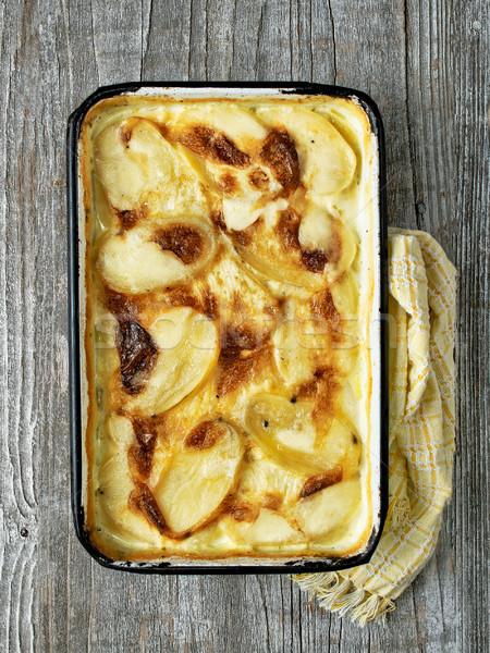 Rustico patate formaggio colore Foto d'archivio © zkruger