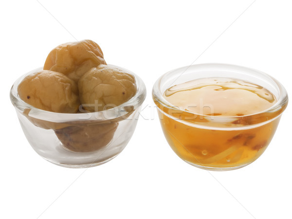 chinese sweet plums and plum sauce Stock photo © zkruger