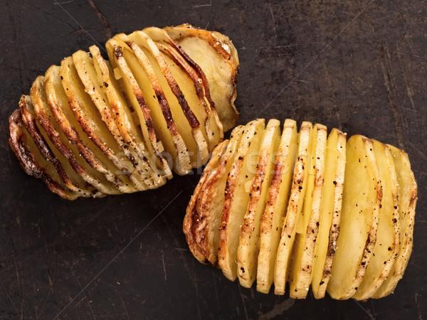 Stockfoto: Rustiek · aardappel · plantaardige · kruid