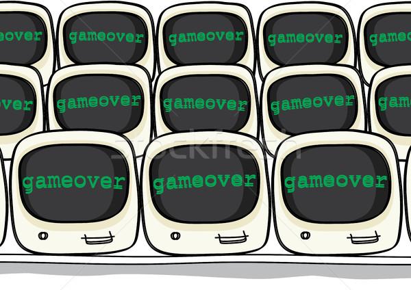 Oyun mesaj bilgisayar monitörü izlemek ekran hayat Stok fotoğraf © zkruger