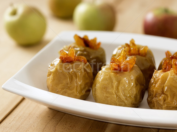 яблоки пластина продовольствие Сток-фото © zkruger