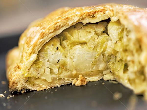 Rústico alho-porro batata torta comida Foto stock © zkruger