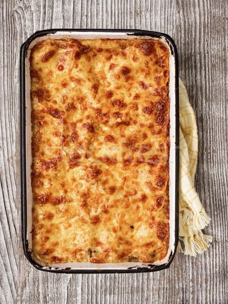 Rustico italiana lasagna vassoio Foto d'archivio © zkruger