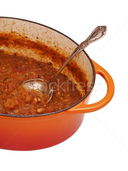 homemade tomato sauce Stock photo © zkruger