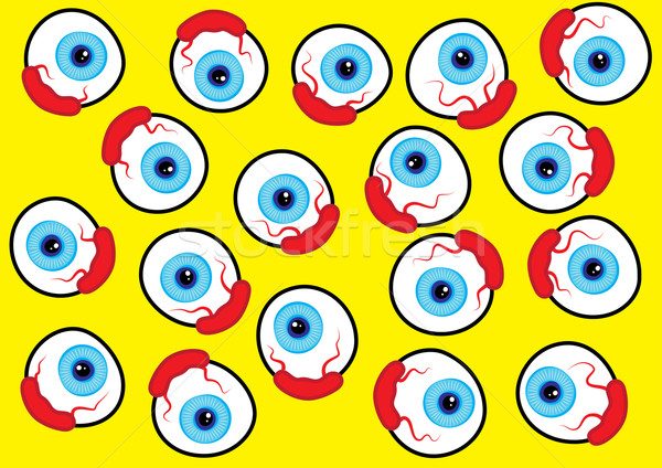 Globo del ojo patrón diseno papel ojo color Foto stock © zkruger