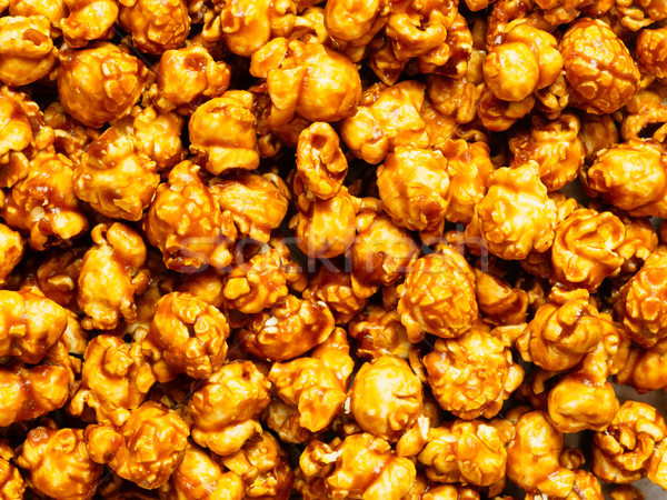 salted caramel popcorn food background Stock photo © zkruger