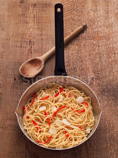 素朴な 伝統的な イタリア語 スパゲティ パスタ ストックフォト © zkruger