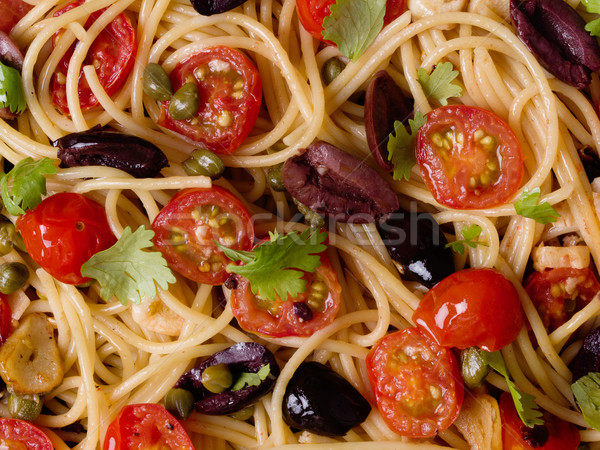 Italien spaghettis pâtes alimentaire fond Photo stock © zkruger