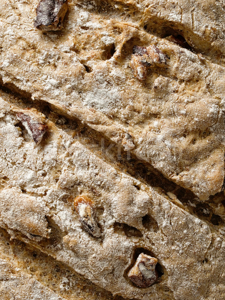 rustic artisan walnut bread crust background Stock photo © zkruger