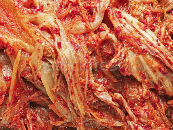 rustic korean fermented cabbage kimchi Stock photo © zkruger