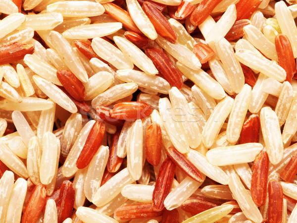 Riz légumes personne brut Photo stock © zkruger