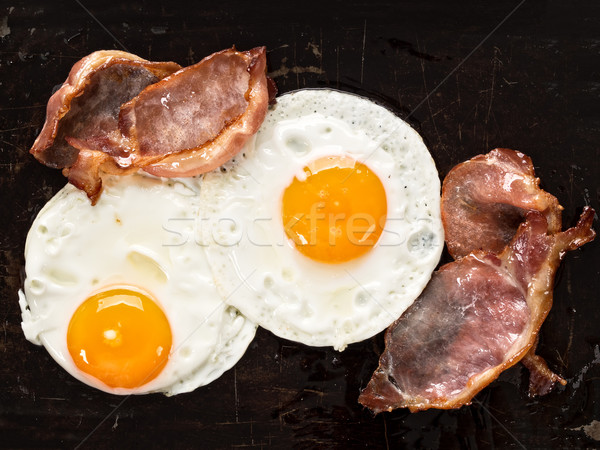 traditional american bacon and egg breakfast Stock photo © zkruger