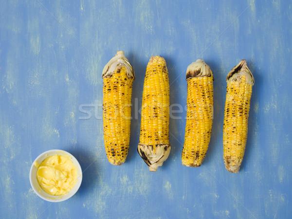 Foto stock: Rústico · a · la · parrilla · dorado · maíz · vegetales