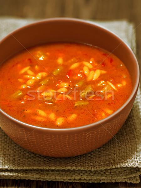Сток-фото: суп · чаши · деревенский · продовольствие · цвета