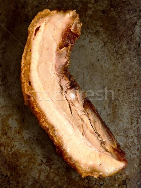 Stok fotoğraf: Rustik · domuz · eti · göbek · renk