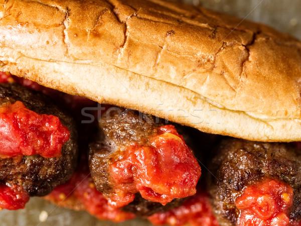 Rustykalny amerykański włoski kanapkę czerwony Zdjęcia stock © zkruger