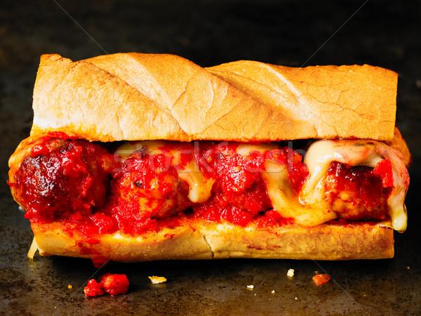 Rustykalny amerykański włoski kanapkę piłka Zdjęcia stock © zkruger