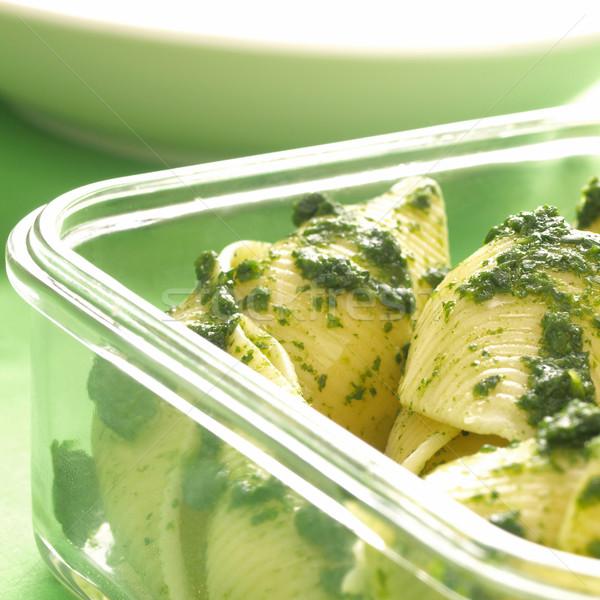 Spinazie pasta diner olijfolie maaltijd Stockfoto © zkruger