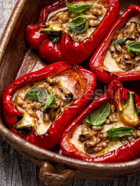 rustic roasted bell pepper Stock photo © zkruger