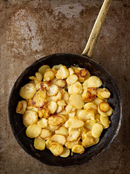 Сток-фото: деревенский · жареный · картофеля
