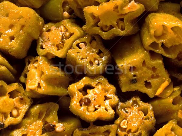 indian bhindi masala Stock photo © zkruger