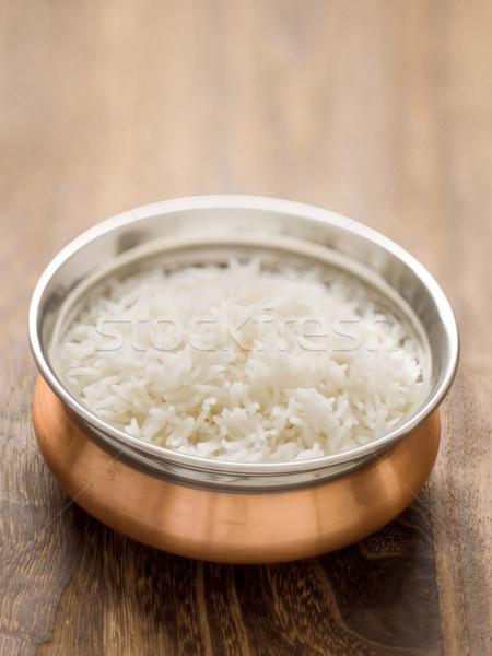 indian steamed basmati rice Stock photo © zkruger
