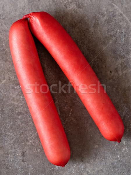 Rustico english rosso carne di maiale salsiccia Foto d'archivio © zkruger