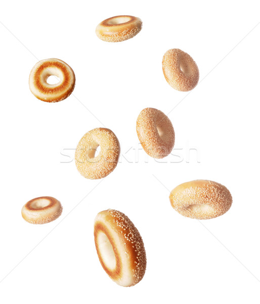 sesame seed bagels Stock photo © zkruger