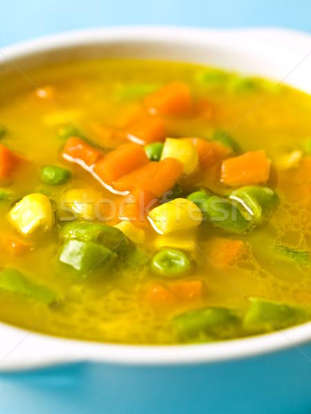Sopa de legumes milho sopa macro longo Foto stock © zkruger