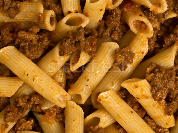 bolognese pasta food background Stock photo © zkruger