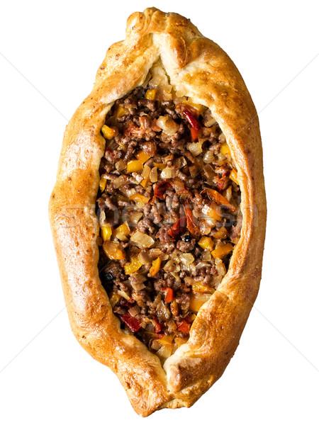 Rústico dourado turco pão pizza Foto stock © zkruger