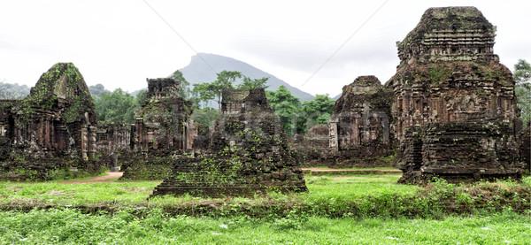 Ruiny mój syn Wietnam krajobraz podróży Zdjęcia stock © zkruger