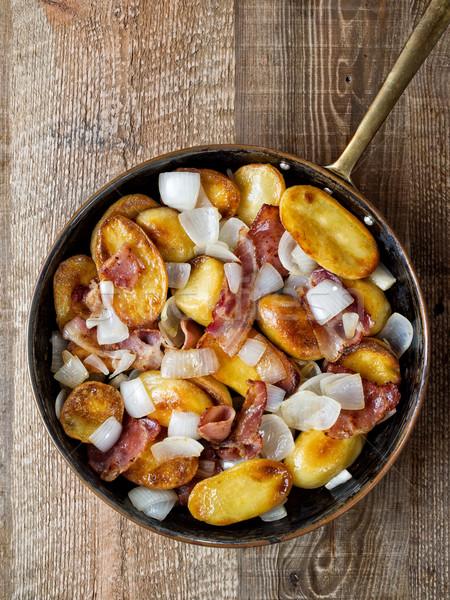 Rustiek home frietjes kleur vet Stockfoto © zkruger
