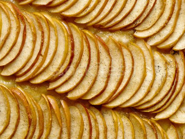 rustic french apple galette food background Stock photo © zkruger