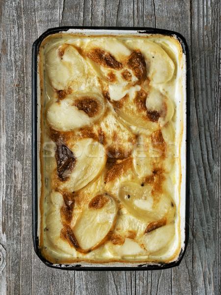 Stockfoto: Rustiek · gouden · aardappel · kleur · comfort
