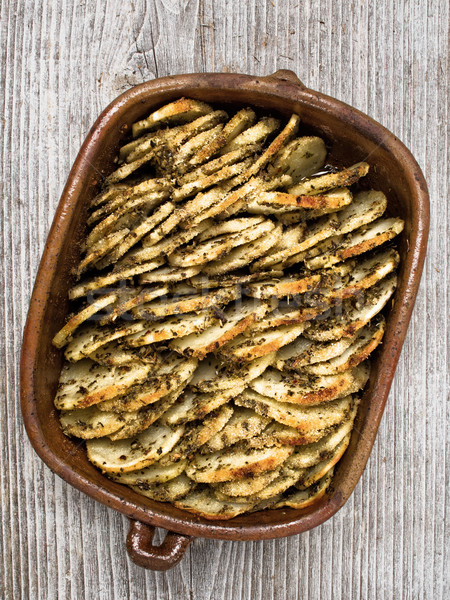 Stockfoto: Rustiek · aardappel · kleur · plantaardige