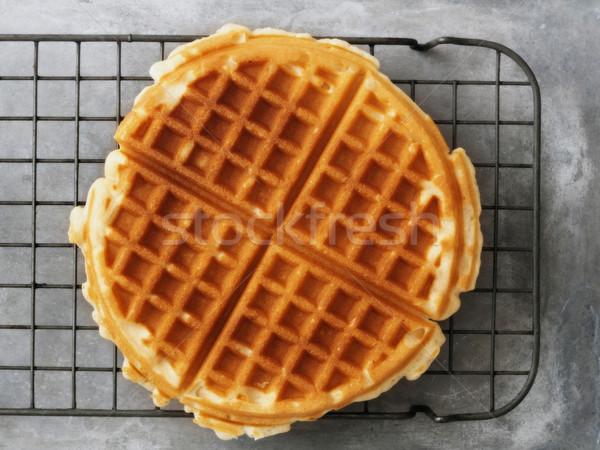 rustic golden plain waffle Stock photo © zkruger