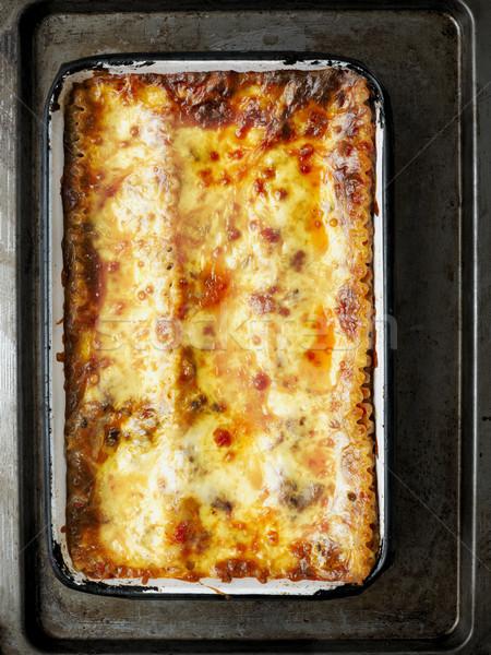 rustic italian lasagna Stock photo © zkruger