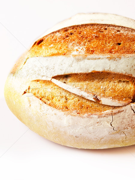 Bochenek chleba śniadanie zdrowych odizolowany Zdjęcia stock © zkruger
