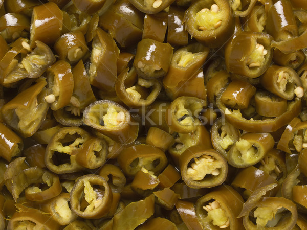 asian pickled green chilies Stock photo © zkruger