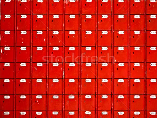 Rosso comunicazione retro mailbox Foto d'archivio © zkruger