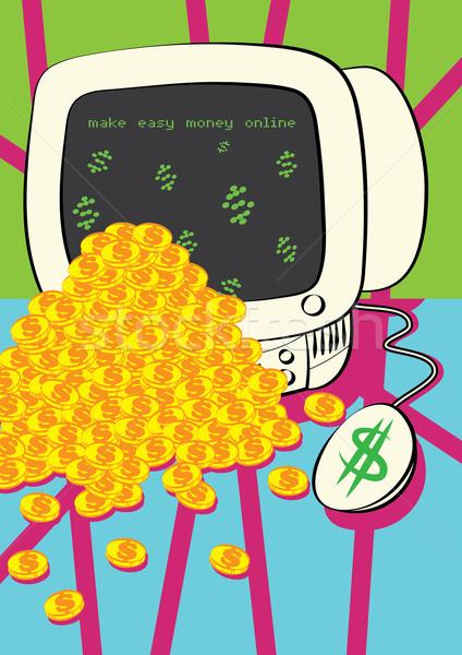 Gyártmány pénz online munka otthon szolgáltatás Stock fotó © zkruger