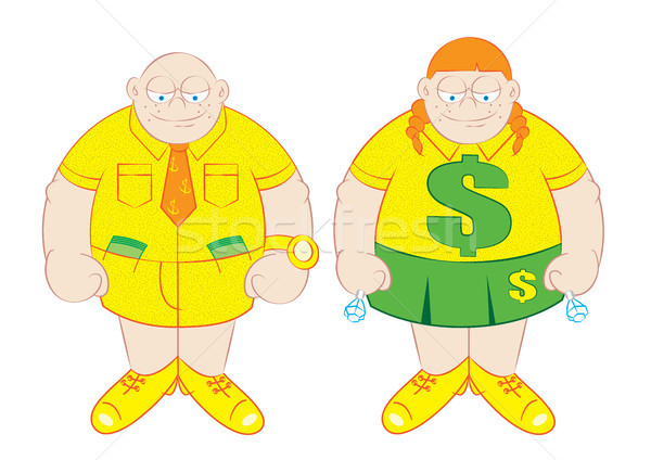 rich boy and girl vector  Stock photo © zkruger