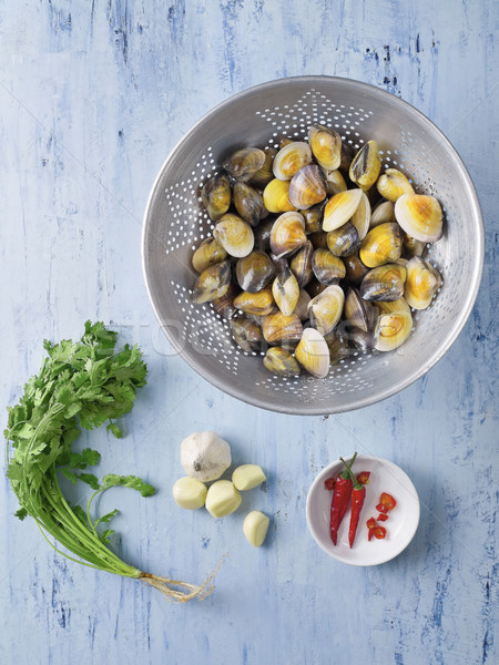 italian vongole clams in white wine sauce ingredients Stock photo © zkruger