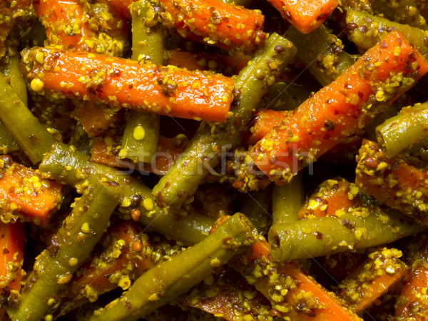 indian carrot and bean pickle Stock photo © zkruger