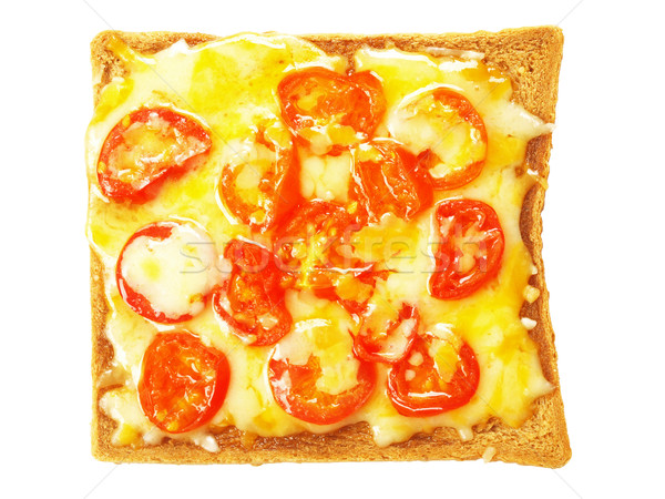 toast with melted cheese and tomatoes Stock photo © zkruger