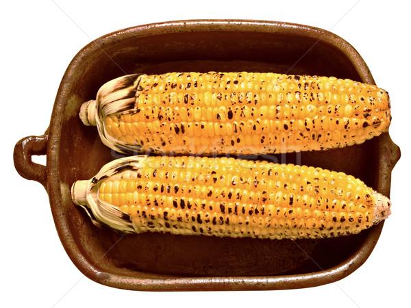 rustic golden grilled corncob Stock photo © zkruger