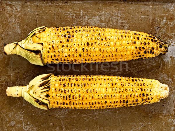 rustic roasted corncob Stock photo © zkruger