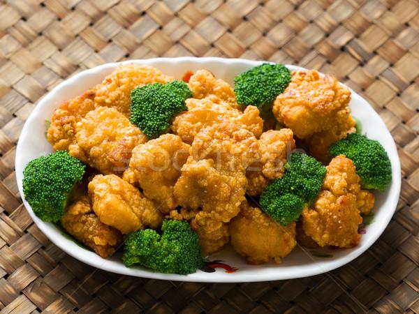 Americano cinese generale pollo rustico Foto d'archivio © zkruger