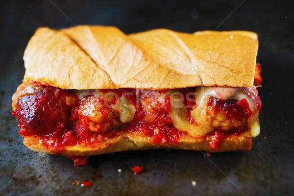 素朴な アメリカン イタリア語 サンドイッチ ボール ストックフォト © zkruger